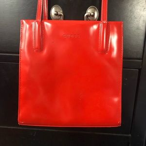 Vintage GUESS Top Handle Patent Leather Purse
